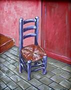 Purple Vincent Print by JW DeBrock