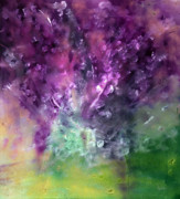 Green Ocean With White Water Prints - Purple Vortex Painting Print by Don  Wright