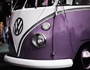 Vw Van Prints - Purple VW Van Print by Marcie Adams Eastmans Studio Photography