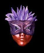 Carnival Sculpture Prints - Purple Warrior Print by Sandy Prenzi
