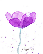 Kpappert Posters - Purple Watercolor Flower Poster by Karen Pappert