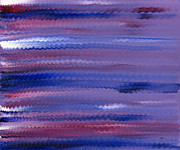 Alizarin Crimson Paintings - Purple Waves by Hakon Soreide