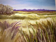 Marsh Scene Paintings - Purple Waves by Lisa Graves