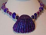 Food And Beverage Jewelry - Purple Wine by Michael Prince