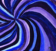 Acrylic Print Digital Art - Purples Blues Swirl by Marsha Heiken