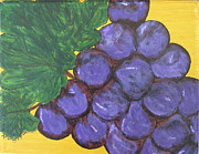 Purple Grapes Framed Prints - Purplest Purple Framed Print by Nancy Pace