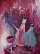 Wine Glasses Paintings - Purron by Ken Brenner