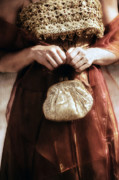 Period Dress Prints - Purse Print by Joana Kruse