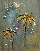 Daisy Drawings Originals - Pushin Up Daisies by Amanda  Sanford