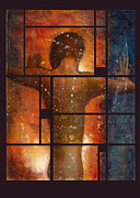Heavenly Body Mixed Media Prints - Pushing Dawn Print by Suzanne  Frie