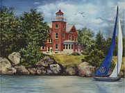 Put Prints - Put-In-Bay Lighthouse Print by Terri  Meyer