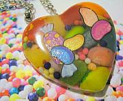 Resin Jewelry - Put Some Jelly in my Belly - Real Jelly Beans Necklace by Razz Ace