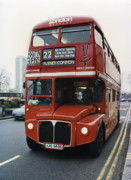 Double Decker Posters - Putney Common Bus - London Poster by Daniel Hagerman