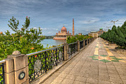 Railing Prints - Putrajaya Lake Print by Adrian Evans