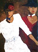Fedora Paintings - Puttin on the Ritz by Helen Wendle