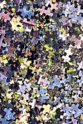Disorganization Framed Prints - Puzzle Piece Abstract Framed Print by Steve Ohlsen