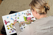 Spatial Skills Posters - Puzzle Therapy Poster by Photo Researchers, Inc.