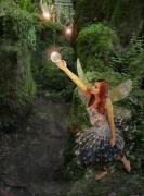 Fantasy Digital Art - Puzzlewood Fairy by Patricia Ridlon