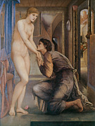 Burne Posters - Pygmalion and the Image Poster by Sir Edward Burne-Jones