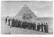 Great Sphinx Framed Prints - Pyramid And Sphinx, 1887 Framed Print by Granger