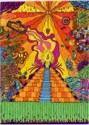 Trippy Posters - Pyramid Poster by Evan Purcell
