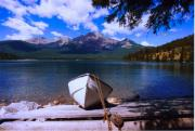 Row Boat Prints - Pyramid Lake Print by Garry Staranchuk