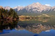 Lhr Images Art - Pyramid Mountain and Pyramid Lake 2 by Larry Ricker
