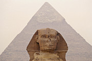 Human Head Art - Pyramid Of Khafre And Sphinx, Egypt by Rob Henderson