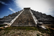 Ancient Ruins Prints - Pyramid of Kukulcan Print by George Oze