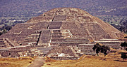 Central Framed Prints - Pyramid of the Sun - Teotihuacan Framed Print by Juergen Weiss