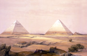Egypt Digital Art - Pyramids of Geezeh - Egypt by Munir Alawi