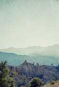 Languedoc-rousillon Prints - Pyrenees Orientale And Distant Pyrenees Mountains Print by Paul Grand Image