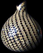 For Collectors Pyrography Originals - Pyrographed Gourd 1a by Roxana Voicu