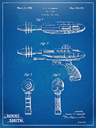 Office Space Metal Prints - Pyrotomic Disintegrator Pistol Patent Metal Print by Nikki Marie Smith