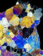 Polarized Prints - Pyroxenite Mineral, Light Micrograph Print by Dirk Wiersma