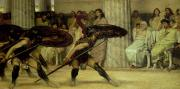 Ancient Greek Framed Prints - Pyrrhic Dance Framed Print by Sir Lawrence Alma-Tadema
