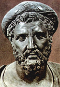 Bust Photos - Pythagoras, Bust Of The 6th Century Bc by Everett
