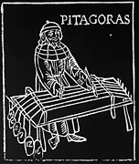 Theory Prints - Pythagoras, Greek Mathematician Print by Omikron