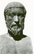 Greek Sculpture Prints - Pythagoras, Greek Mathematician Print by Science Source