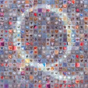 Hearts Digital Art - Q in Confetti by Boy Sees Hearts