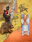 Native American Paintings - Q is for Quillwork... by Will Bullas