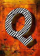 H Greeting Cards Framed Prints Prints - Q Print by Mauro Celotti