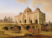 Domes Art - Qal A-l-Kuhna Masjid - Purana Qila by Robert Smith