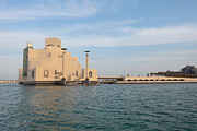 Qatar Framed Prints - Qatar Museum sea gate Framed Print by Paul Cowan