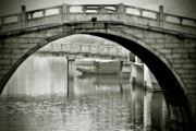 White Arched Bridge Prints - Qibao - Shanghais living fossil Print by Christine Till
