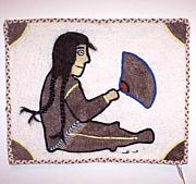 Tail Tapestries - Textiles - Qiviut Sedna With Ulu by Agnes Nulluq Iqqugaqtuq
