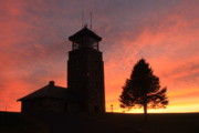 Ware Prints - Quabbin Park Tower Sunset Print by John Burk
