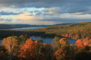 Belchertown Metal Prints - Quabbin Reservoir Autumn Metal Print by John Burk