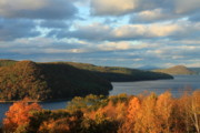 Belchertown Metal Prints - Quabbin Reservoir Foliage View Metal Print by John Burk
