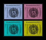 Washington D.c. Digital Art Acrylic Prints - QUAD TWOs in COLORS Acrylic Print by Rob Hans